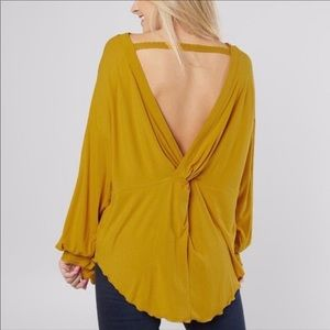 Free People Shimmy Shake Untamed Gold Top